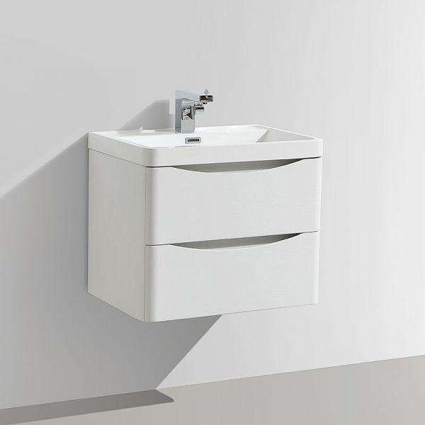 Motiv 600mm White Gloss Wall Mounted Vanity Unit