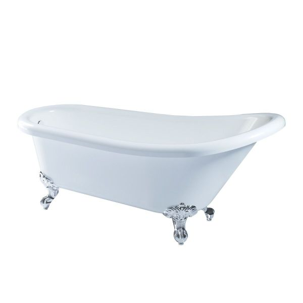 Traditional Roll Top Single Ended Slipper 1500x800 Bath Claw Feet