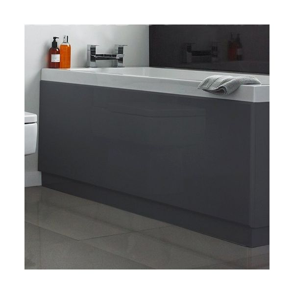 Anthracite 1700mm Grey Bath Front Panel
