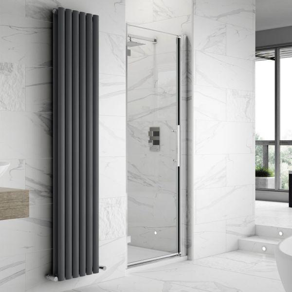 Fortuna Elite 8mm Frameless Hinged Shower Door Enclosure 900mm