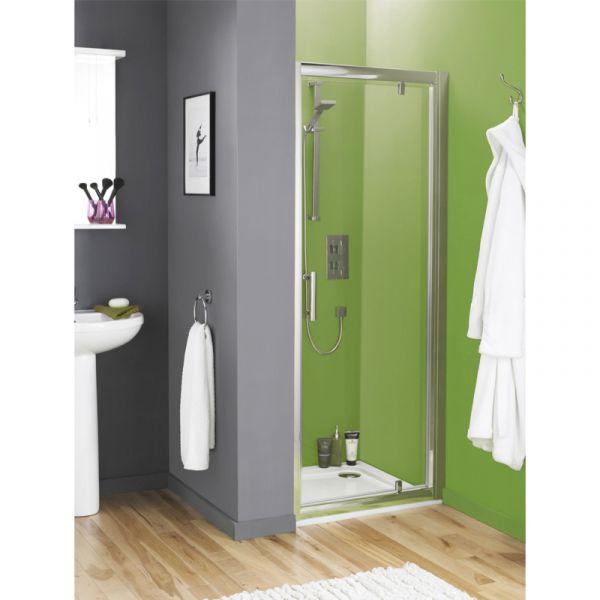 Ultra Pacific Framed Pivot Shower Door 760mm