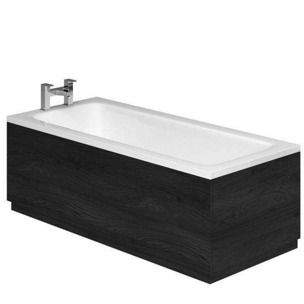 Esk Textured Black Front Bath Panel – 1800mm