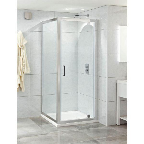 Style 8mm 900 Pivot Door Shower Enclosure Chrome