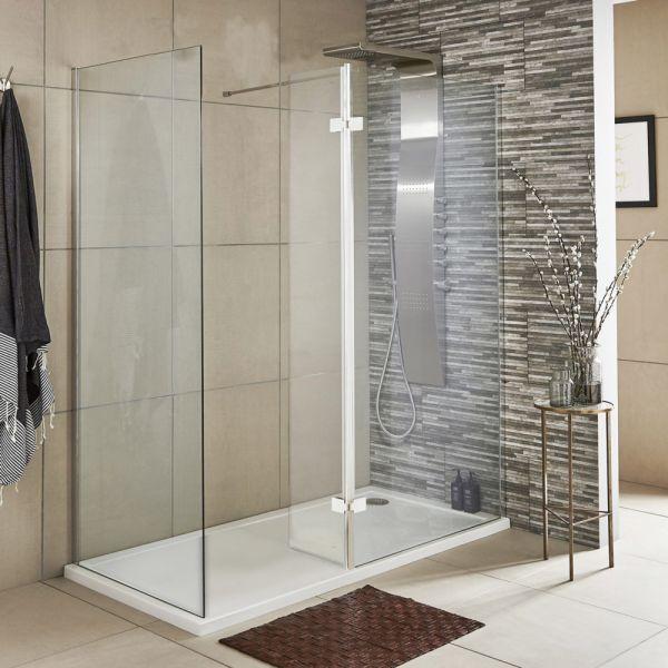 Beka Recess 8mm Walk In Shower Enclosure 1200x1000 inc Tray