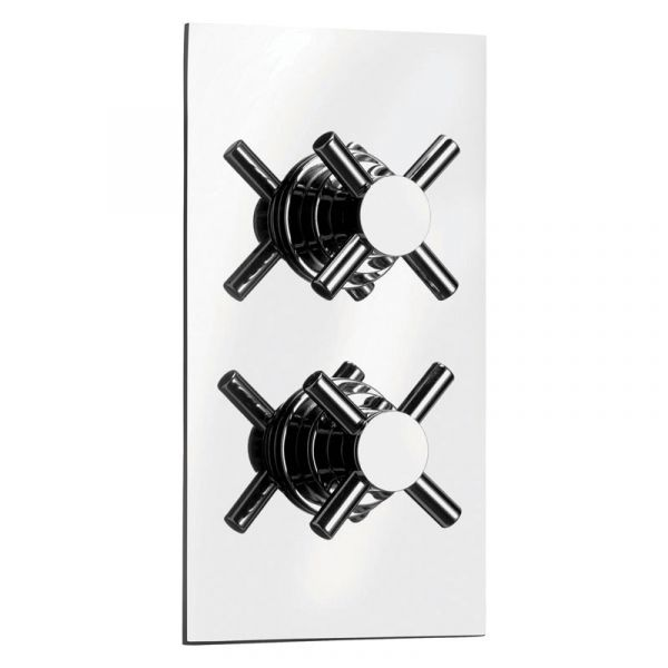 Cloudburst Twin Crosshead Concealed Thermostatic Valve