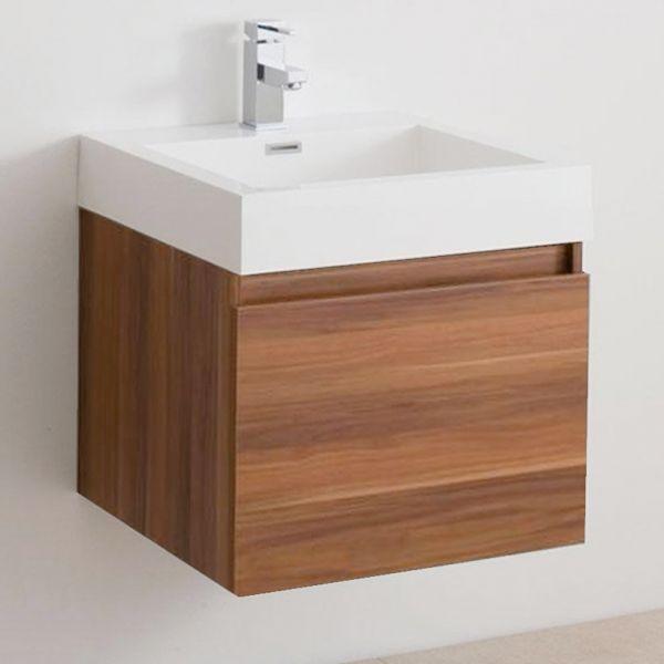 Brooklyn 600 Two Draw Soft Close Vanity Unit inc. Basin. Plum