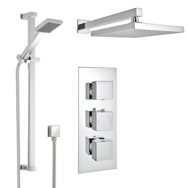 Tevez Square Thermostatic Shower Pack