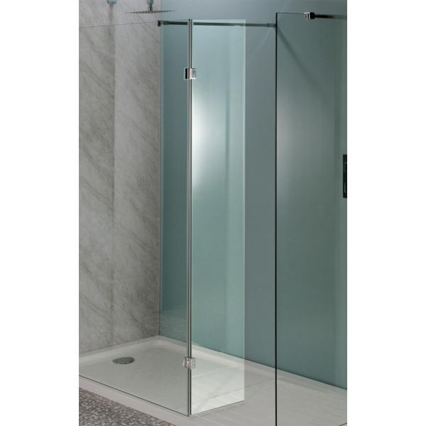 300mm x 1850mm Hinged 8mm Wetroom Glass Panel