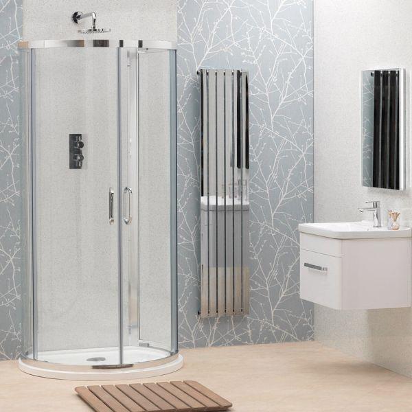 Nouveau 900x770 D-Shape Shower Enclosure Inc Tray