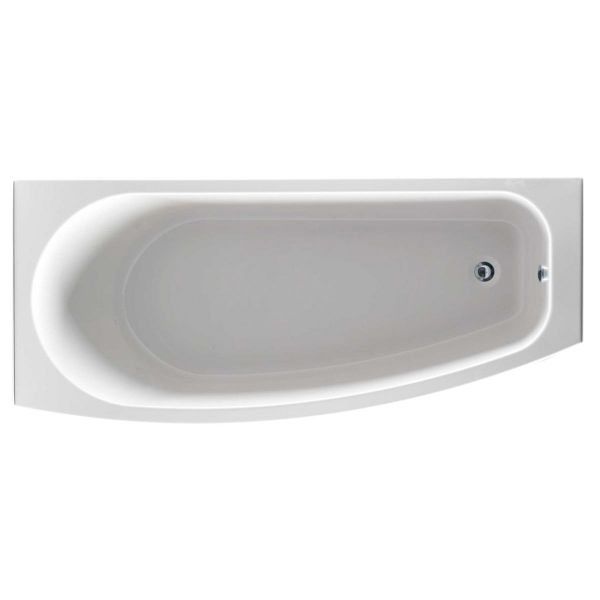Compact 1700 x 700 Curved Space Saver Bath Inc Bath Screen and Front Panel