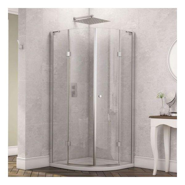 Fortuna 900 x 900 Frameless 8mm Quadrant Shower Enclosure