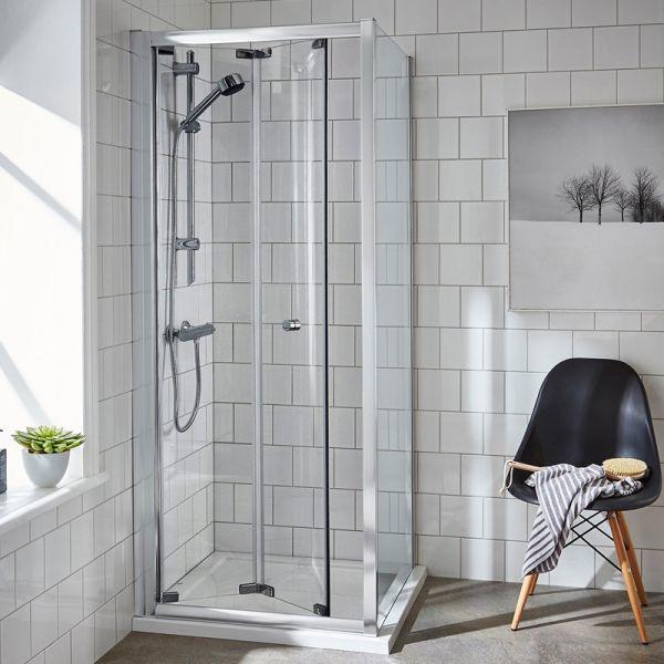 760mm Bi-Fold Shower Door Enclosure