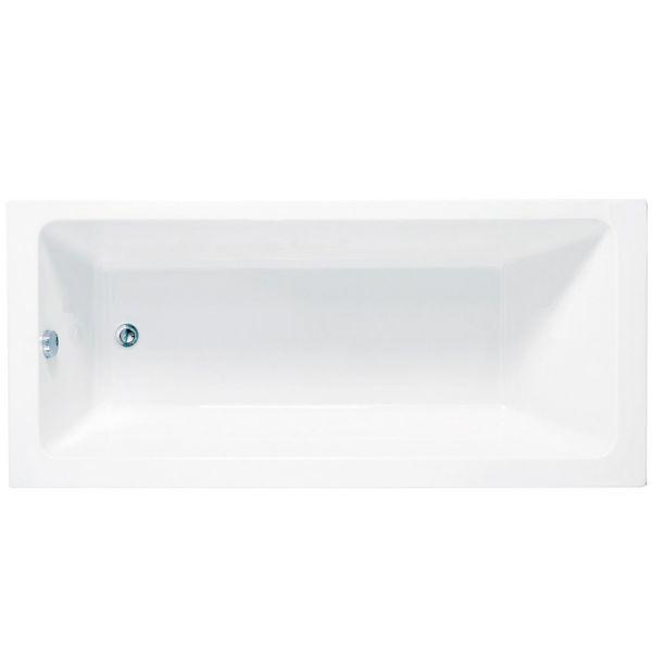 Fibonacci 1700 x 750 Modern Square Single Ended Shower Bath