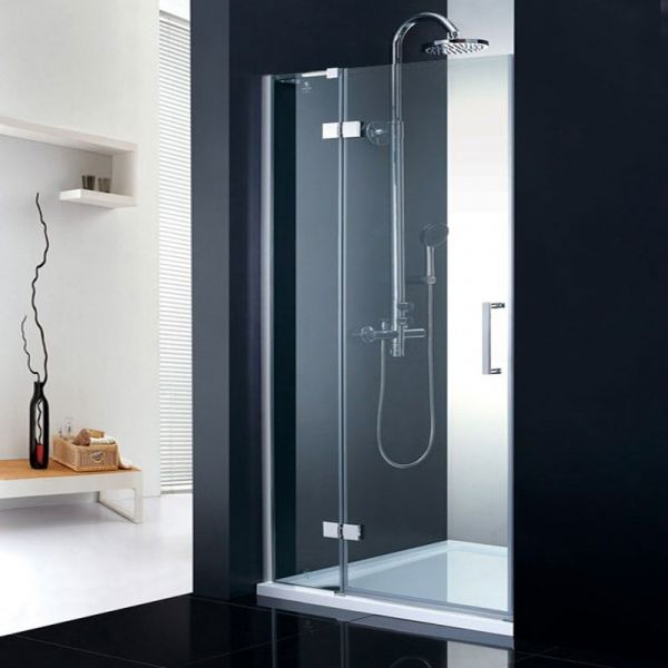 Fortuna Elite 8mm Frameless Hinged Shower Door Enclosure 800mm