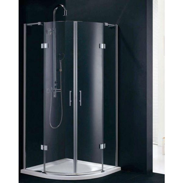 Fortuna 800 x 800 Frameless Quadrant Shower Enclosure