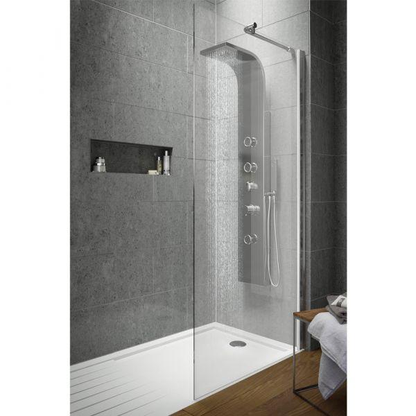 1400x1950 Wetroom Screen Inc Support Bar