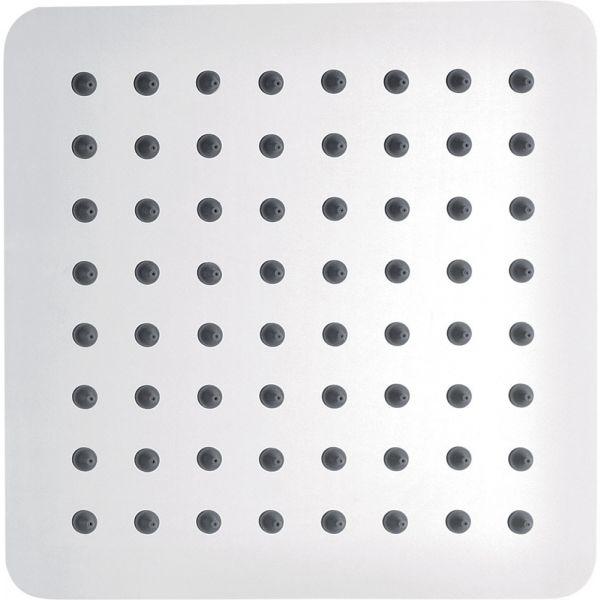 Slimline Stainless Steel 200mm Square Shower Head