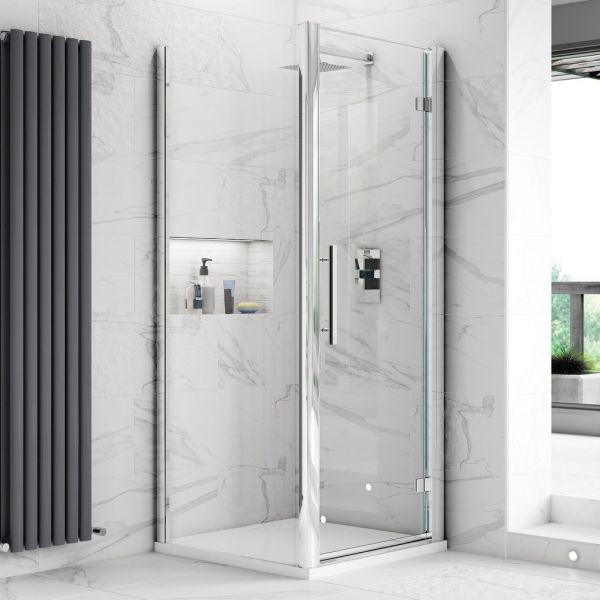 Fortuna Elite 8mm Frameless Pivot Shower Door Enclosure 700mm