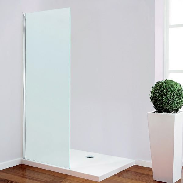 Frosted Walk Through Wet Room Panel - 700mm