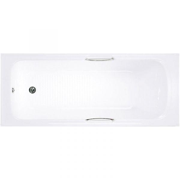 Alpha 1675 x 700 Shower Bath inc Grips