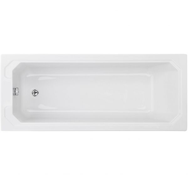 Traditional Victorian Style 1700 X 700 Single Ended White Bath