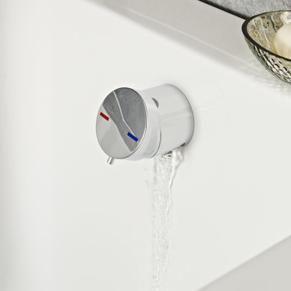 Single Lever Free Flow Bath Filler with Click Clack Waste