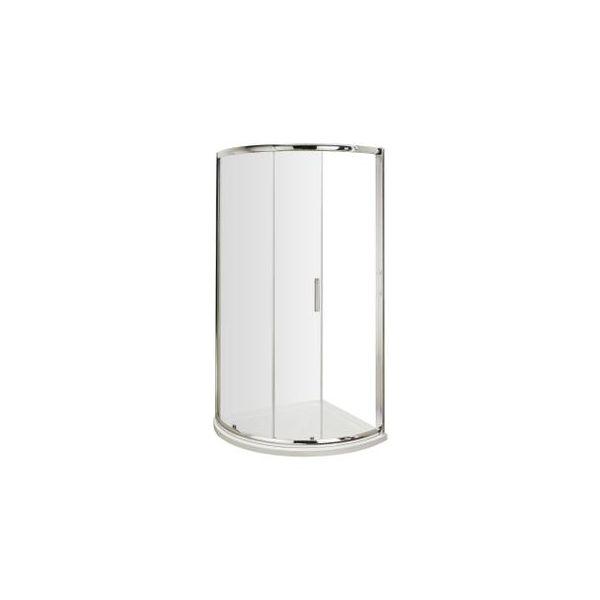 Clear Single Sliding Quadrant Enclosure 900x900