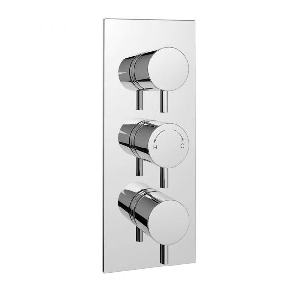 Plan Triple Control Concealed Thermostatic Valve Round