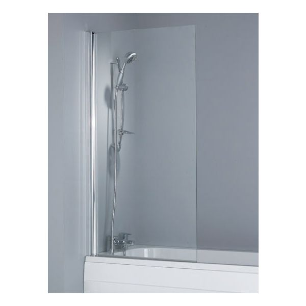 Single Square Bath Shower Screen - 6mm Toughened Safety Glass
