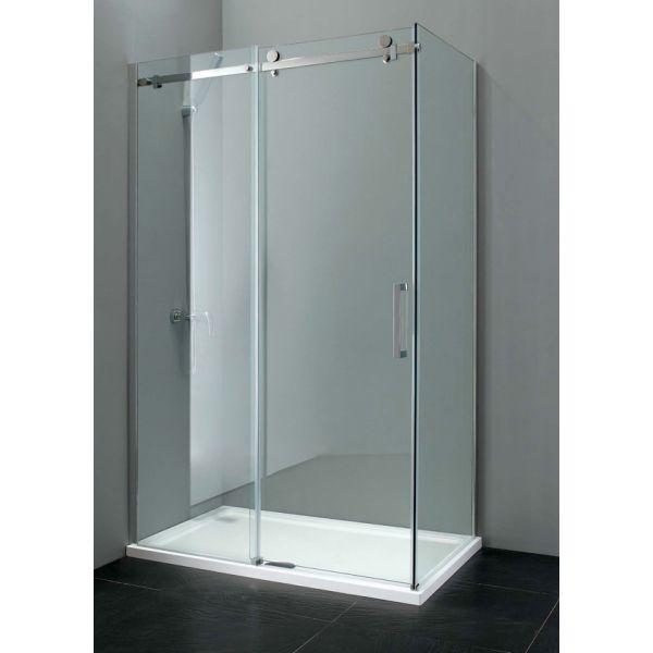Sevilla Frameless 8mm Sliding Door 1400mm Easy Clean Glass