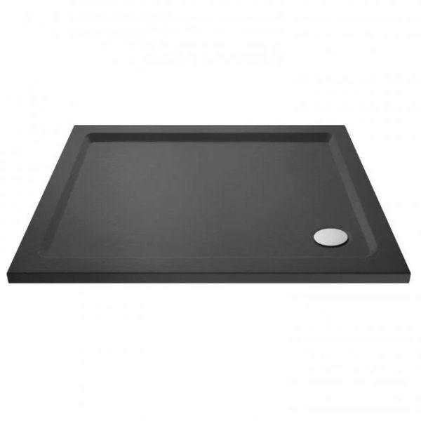 Slate Grey Rectangular Stone Resin Shower Tray 1200 x 800 mm