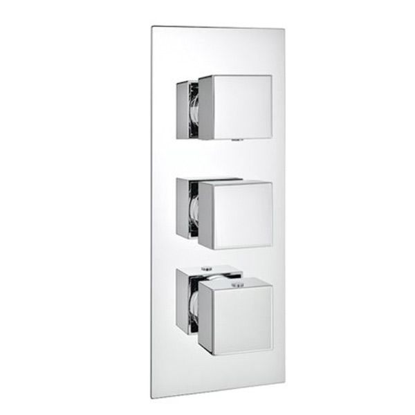 Pure Square Triple Control Concealed Thermostatic Valve