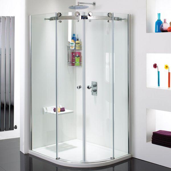 Vision 8mm 1200mm x 900mm Frameless Sliding Quadrant Shower Enclosure