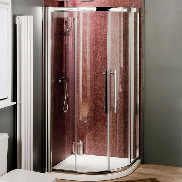 Eight Shower Enclosure - 8mm Safety Glass - 800x800 Quadrant
