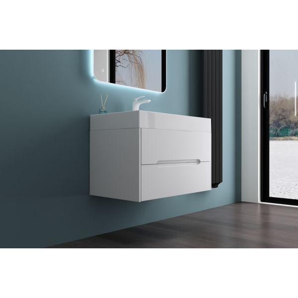 Bella 1000mm White Gloss Mounted Bathroom Vanity Unit
