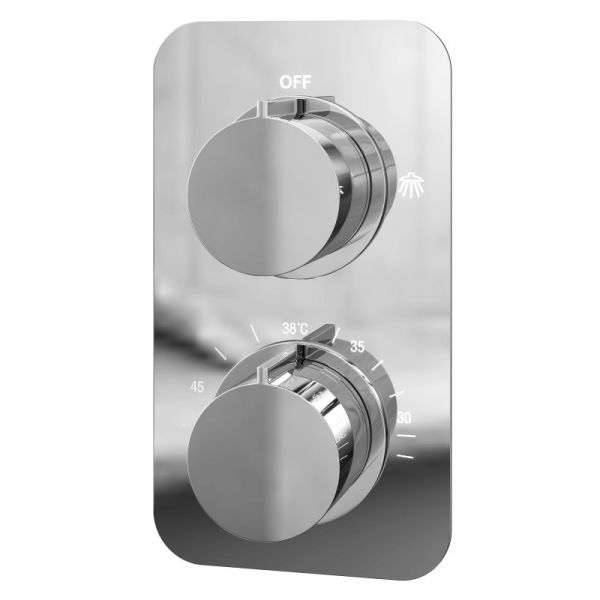 Moderno Thermostatic Concealed Shower Valve Round