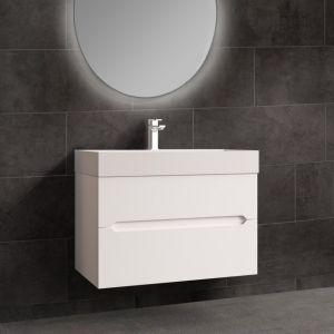 Bella 1000mm White Gloss Wall Mounted Bathroom Vanity Unit Matte