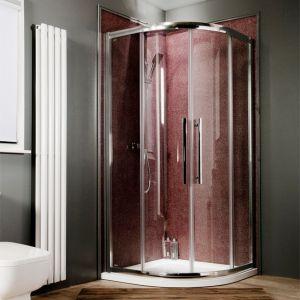 8mm Easy Clean 1200 x 800 Offset Quadrant Shower Enclosure