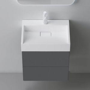 600mm Wall hung Vanity unit Grey Elm