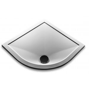ab25 Dome 25mm Stone Resin Ultra Low Profile 800 x 800 Quadrant Tray