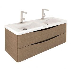 1200 Double Vanity Basin Unit Grey Elm