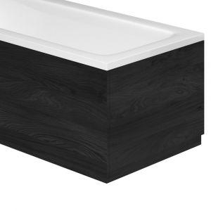 Esk Textured Black End Bath Panel – 800mm