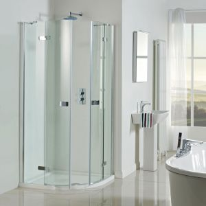 Vision 8mm 900mm Frameless Pivot Door Quadrant Shower Enclosure