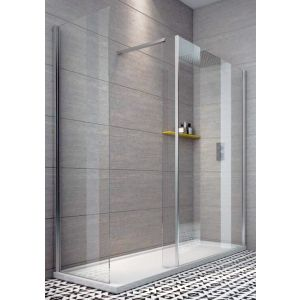 Indi 1500 x 800 10mm Walk In Shower Enclosure Inc Tray And Waste