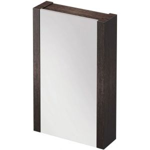 Moscow 500 Bathroom Mirrored Wall Cabinet Dark Wood