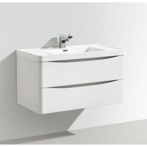 Motiv 900mm Wall Mounted Gloss White Vanity Unit