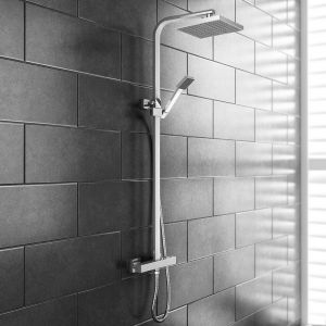 Supersonic Square Overhead Shower Thermostatic Valve and Head