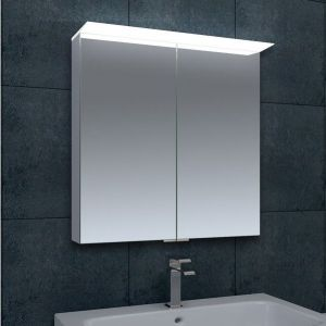 Rosie LED Mirrored Double Door Cabinet with Shaver Socket