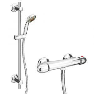 Regal Modern Thermostatic Shower Valve Pack Inc Slide Rail Kit