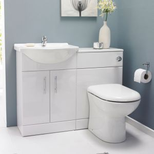 Saturn Bathroom Furniture Vanity Pack inc Toilet